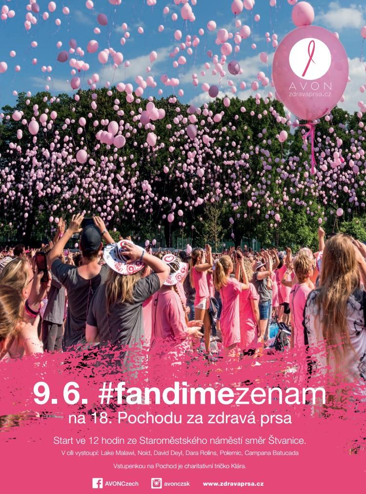 Pochod za zdravá prsa #fandimezenam